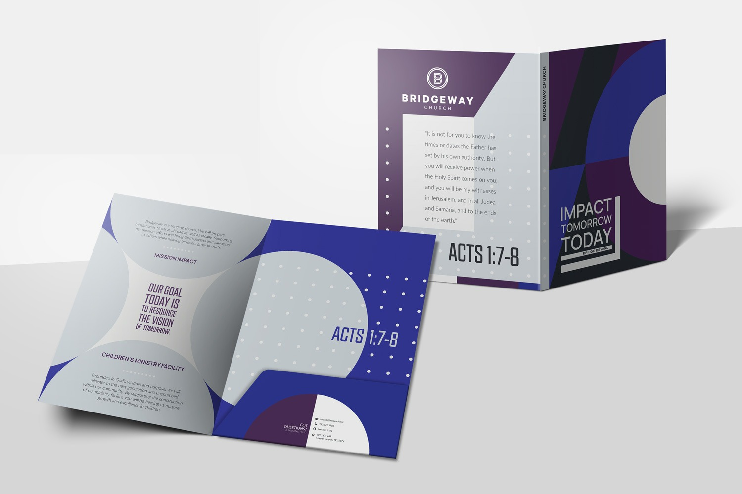 9 x 12 in. Presentation Folder for Church Capital Campaigns by Abstract Union in Lincoln, NE