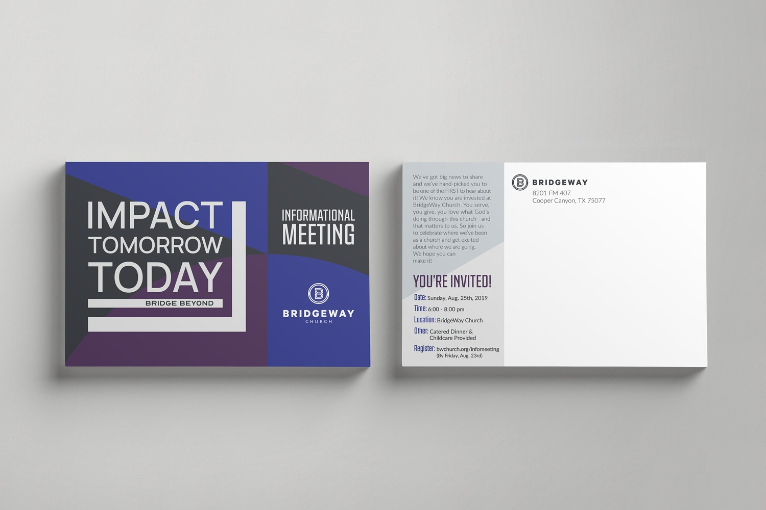 Church Capital Campaign 4 x 6 in. Postcard Direct Mail Ideas and Examples by Abstract Union in Lincoln, NE