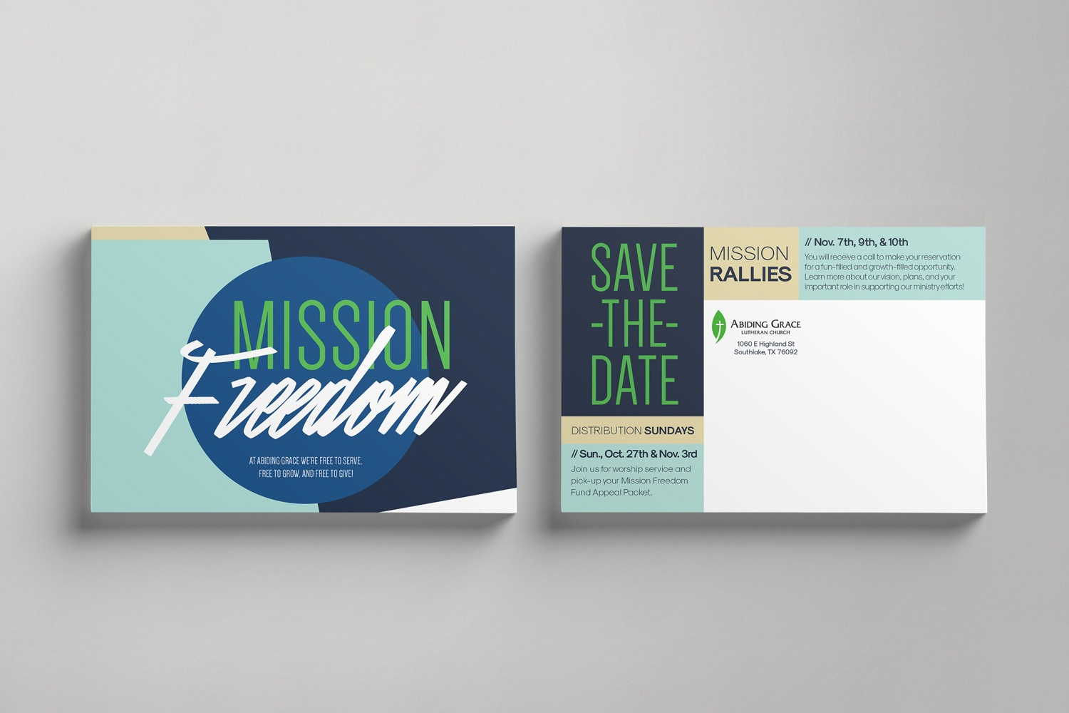 Standard 4 x 6 in. Postcard Mailer for Church Capital Fundraiser by Abstract Union in Lincoln, NE