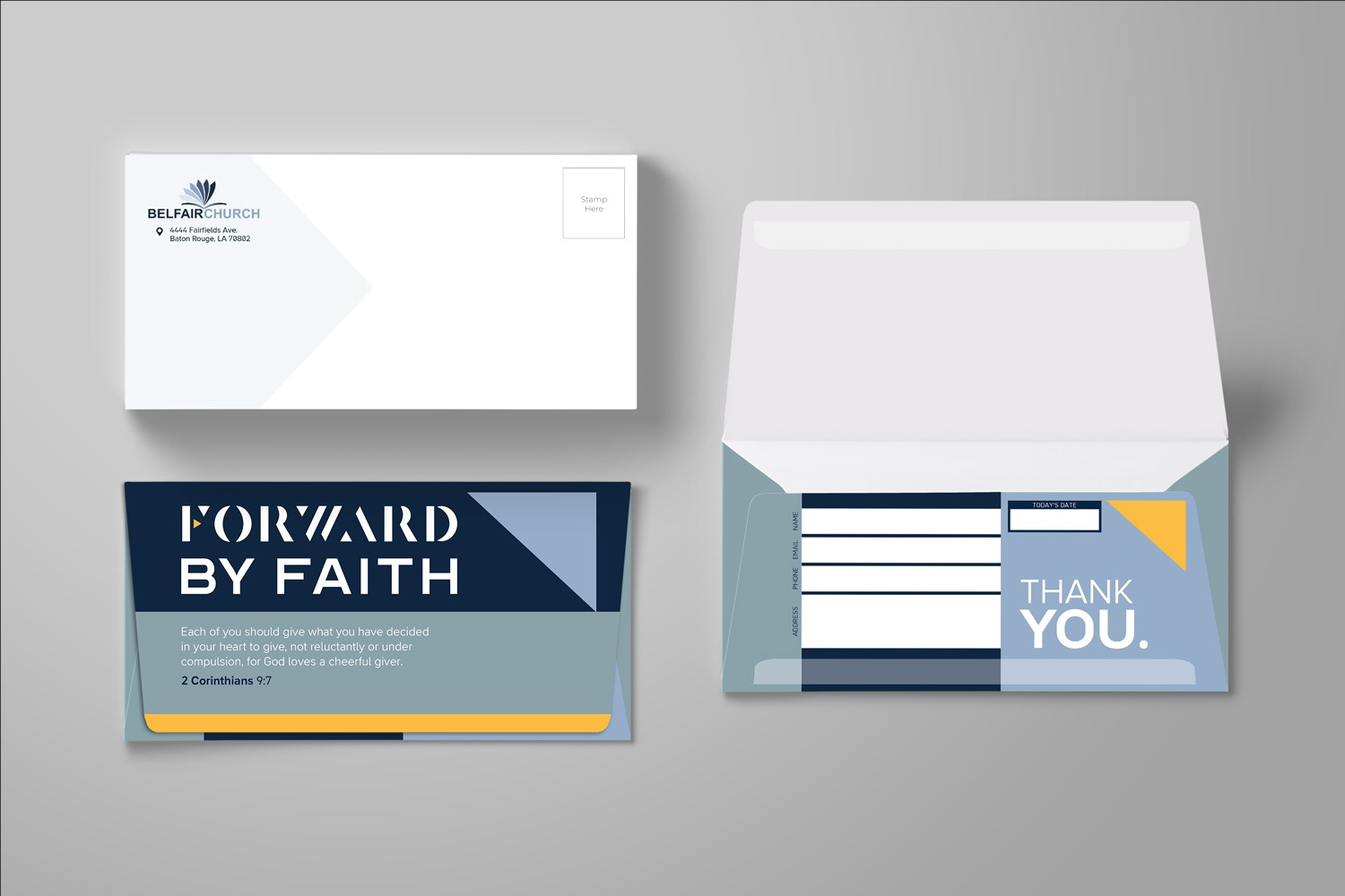 Long Flap Remittance Offering Envelope for Church Capital Fundraising Ideas and Examples by Abstract Union in Lincoln, NE
