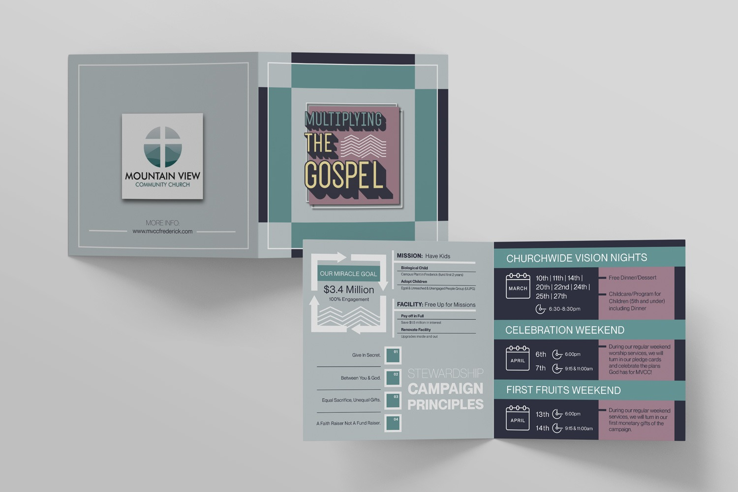 Half-Fold brochures for Church Capital Campaigns ideas and examples by Abstract Union in Lincoln, NE