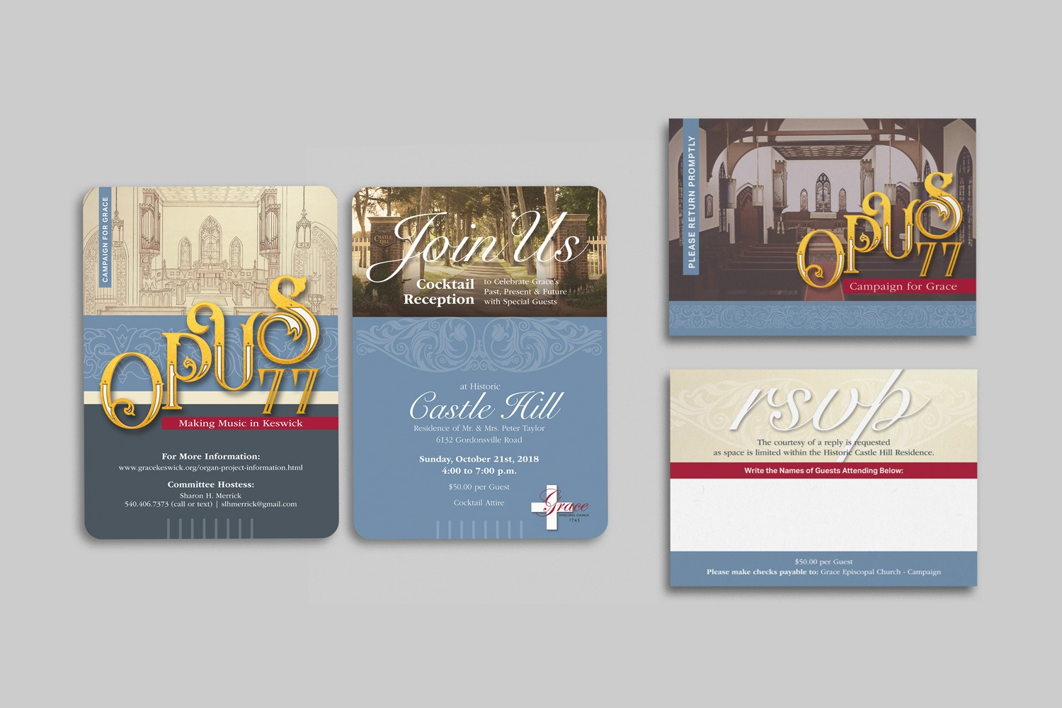 Church capital campaign invitation set ideas and examples by Abstract Union in Lincoln, NE
