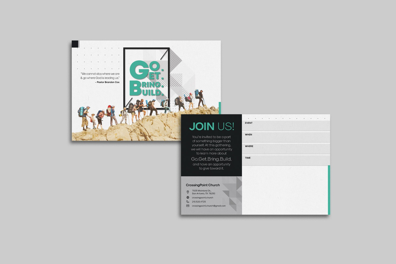 Horizontal 4 x 6 in. Invitations for Church Capital Campaigns by Abstract Union in Lincoln, NE