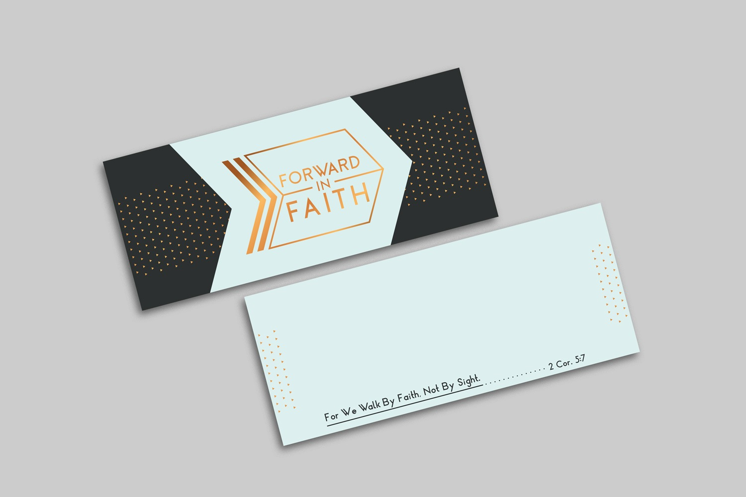 Horizontal 3.5 x 8.5 in. Notecard for Church Capital Campaigns by Abstract Union in Lincoln, NE