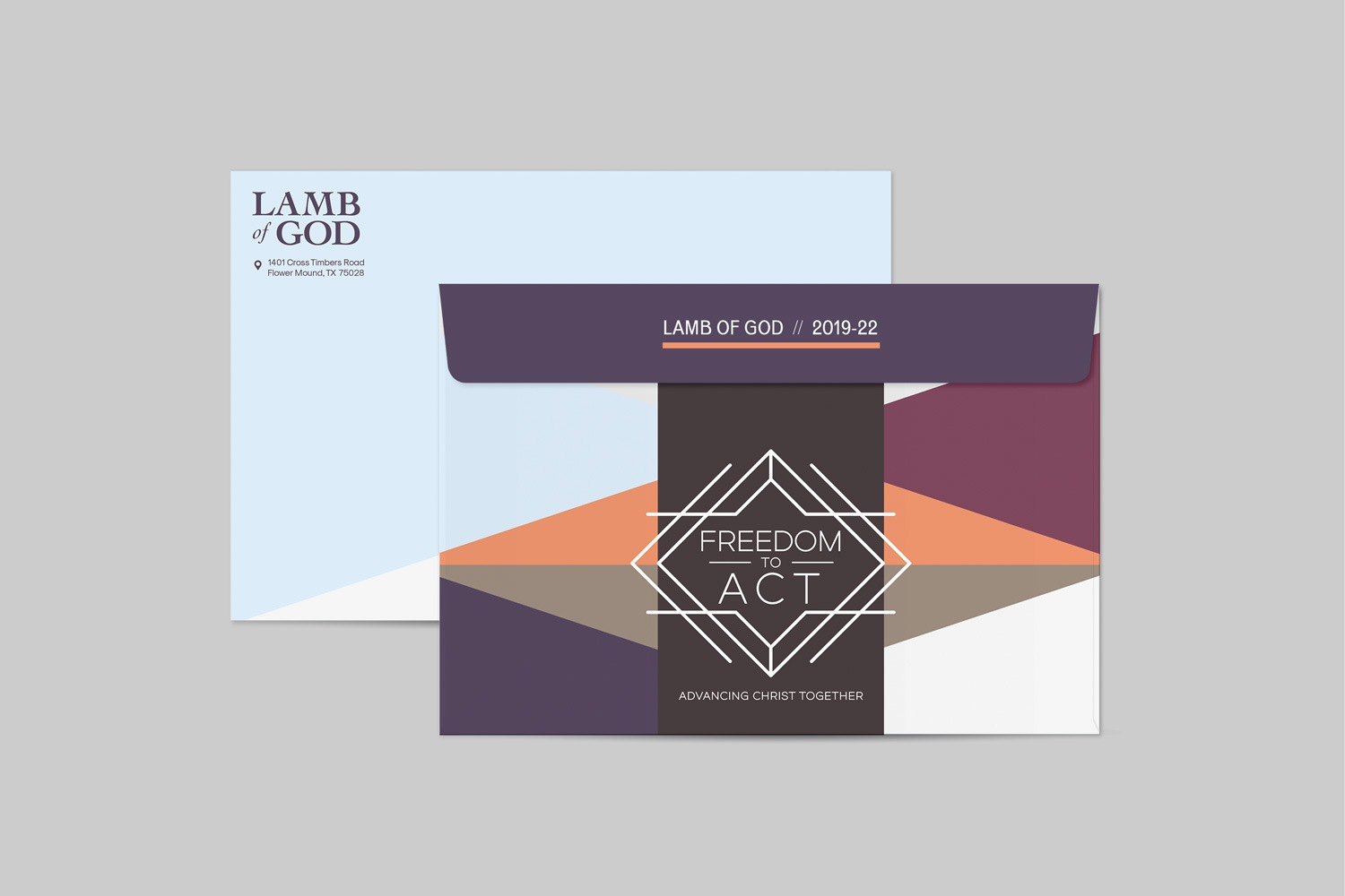 6.5x9.5in envelope for church capital campaign packages and materials for fundraising by abstract union