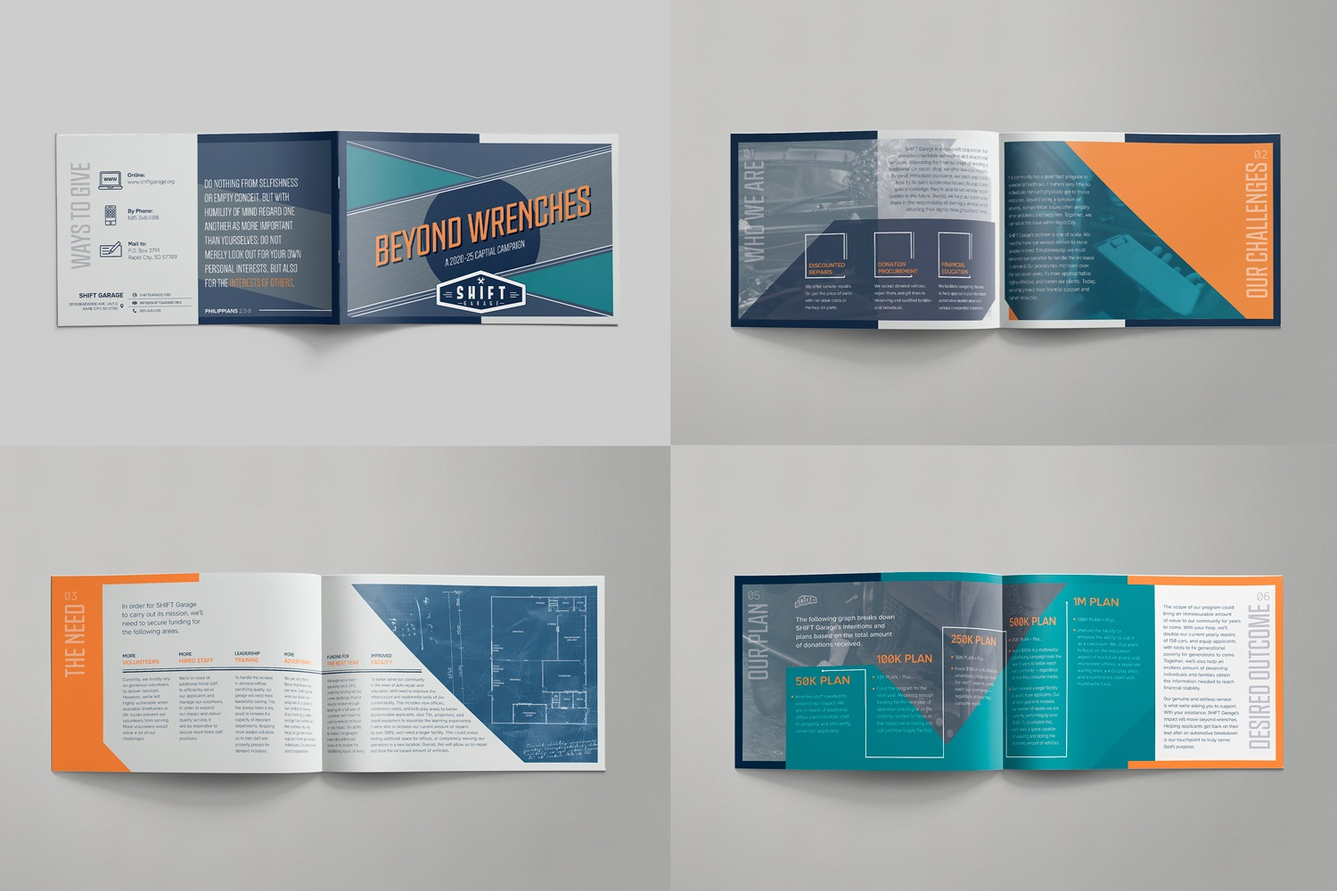 8-page case statement brochure for Non-Profit Capital Fundraiser by Abstract Union