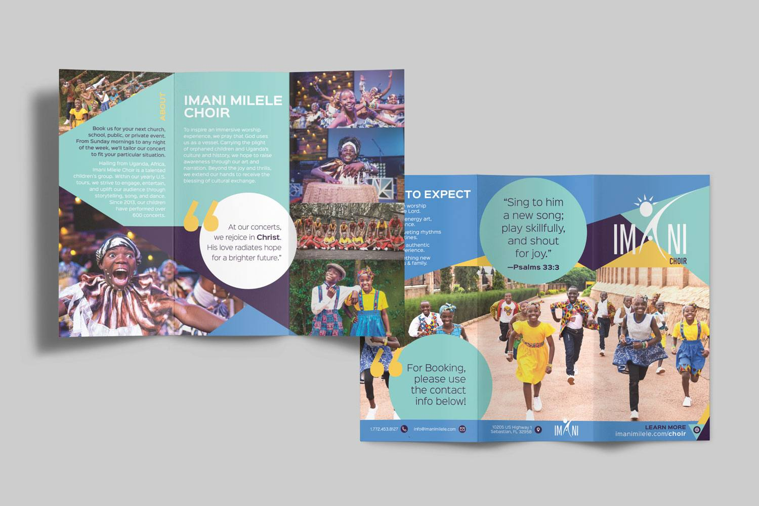 8.5 x 11 in. Non-Profit folded brochure design and printing by Abstract Union