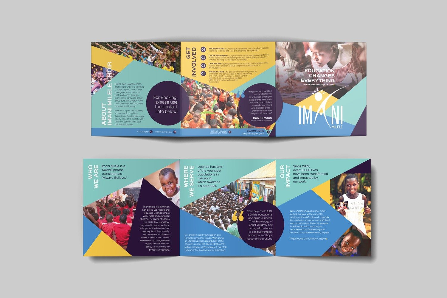 Square informational brochure for non-profit organizations by Abstract Union