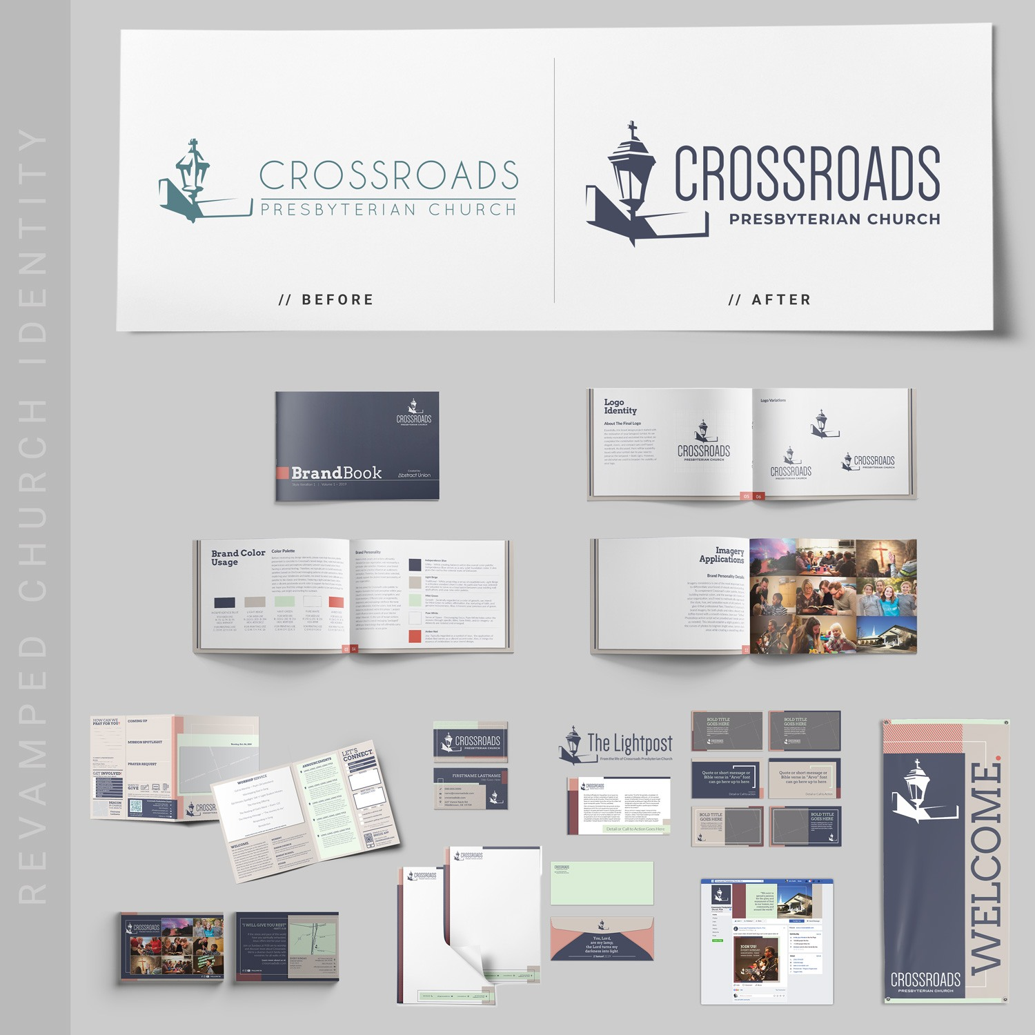 Church logo revamp ideas and examples. Brand guidelines for traditional church brand by Abstract Union