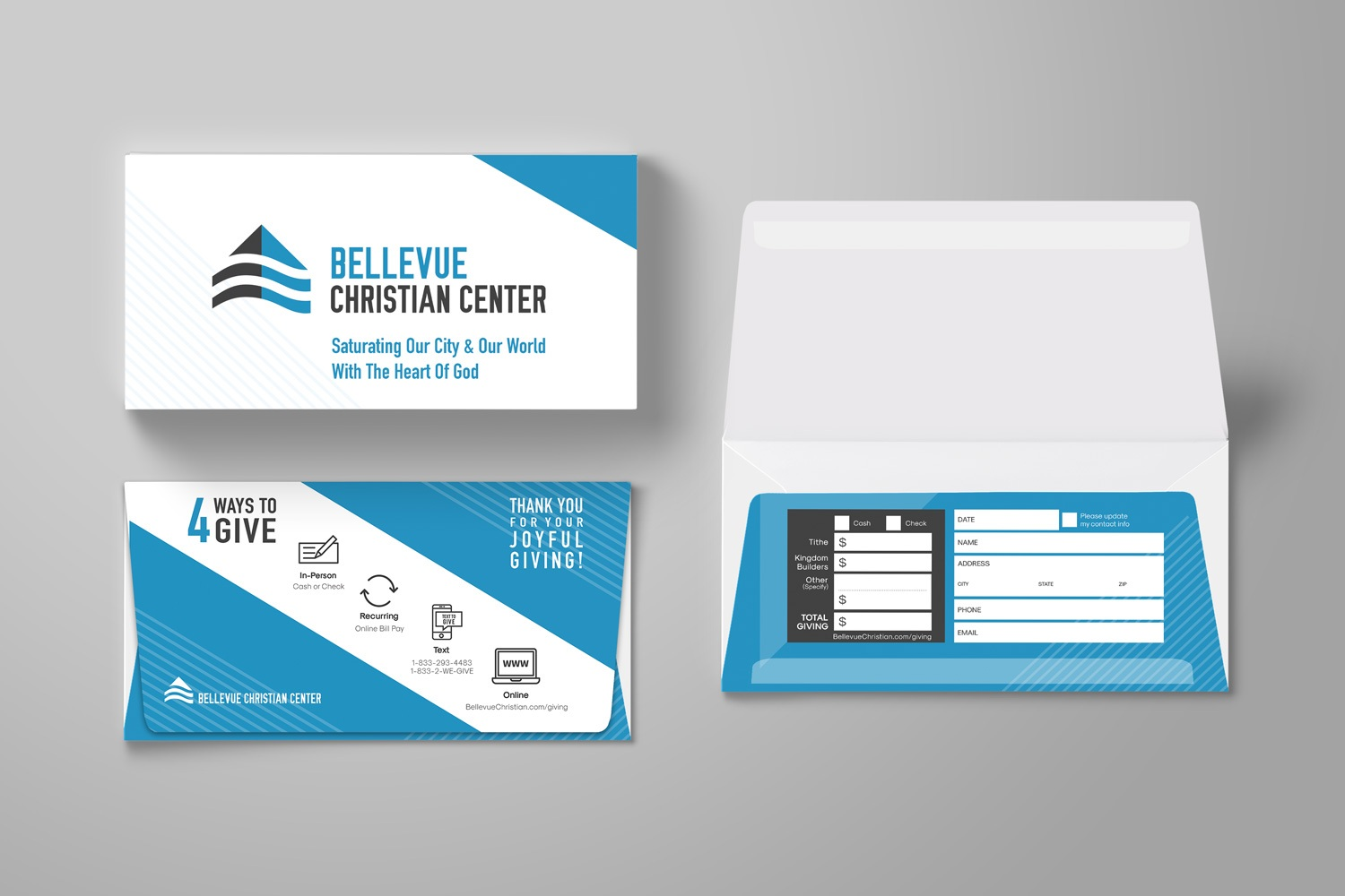 Custom church offering envelopes for church branding  by Abstract Union