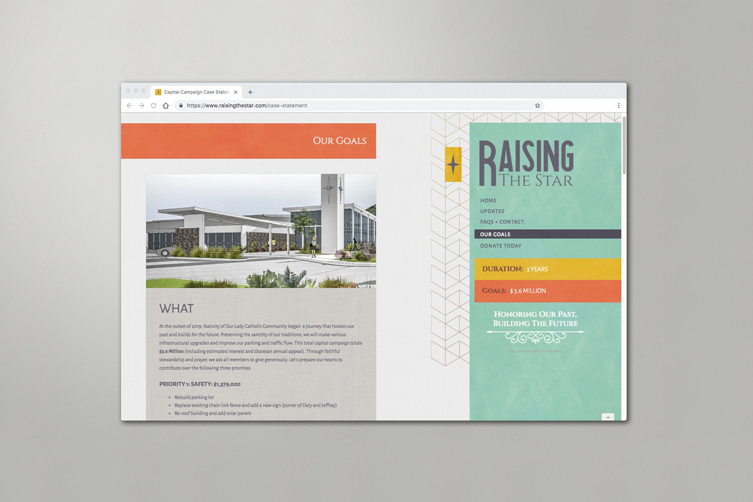 example of Church capital campaign websites for church building campaigns