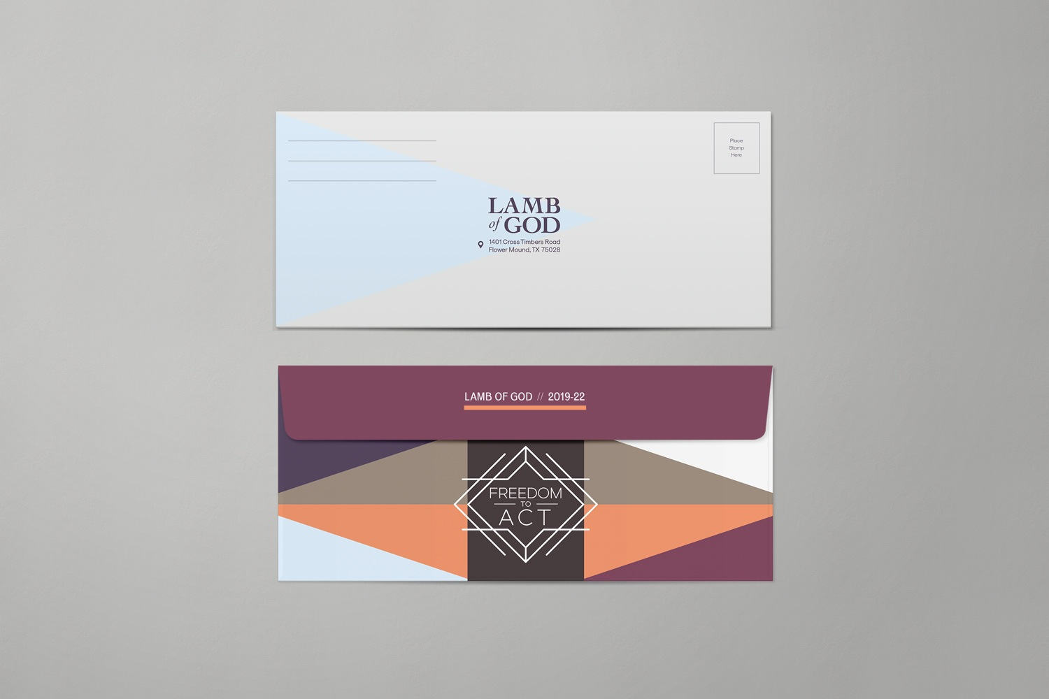 No10 return envelopes of church capital campaigns and church fundraising materials by Abstract Union