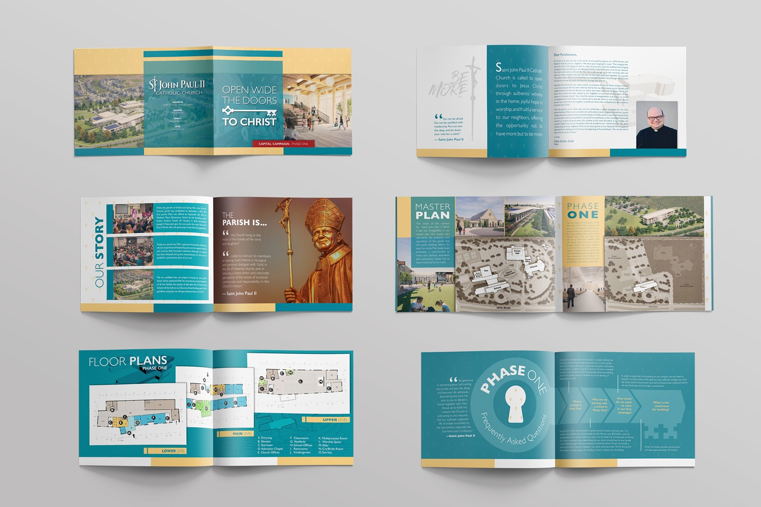 Catholic Church Capital Campaign case statement brochure for stewardship and fundraising, samples and design template by Abstract Union