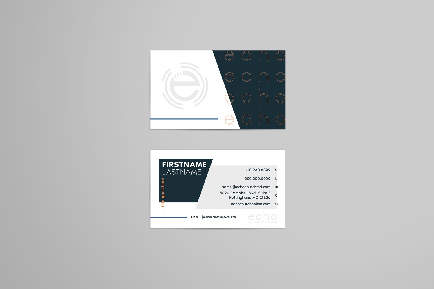 Examples of Business cards for church brand design and branding strategy by Abstract Union