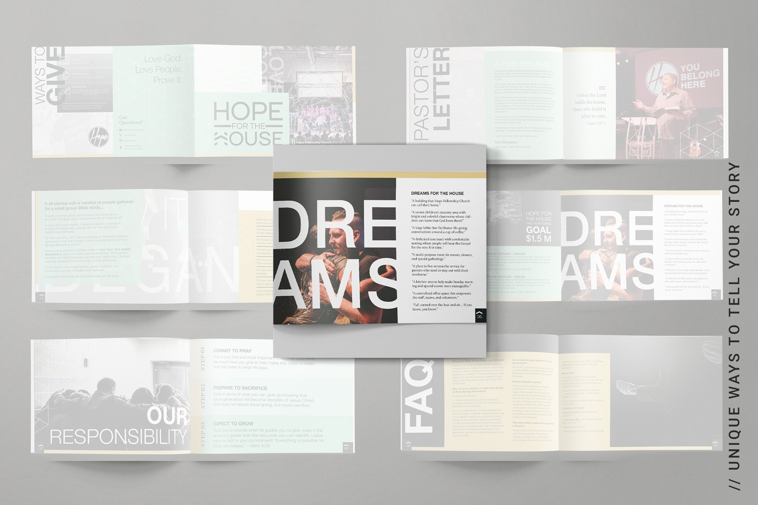 Best practices for capital campaign brochures, church and nonprofit fundraising design