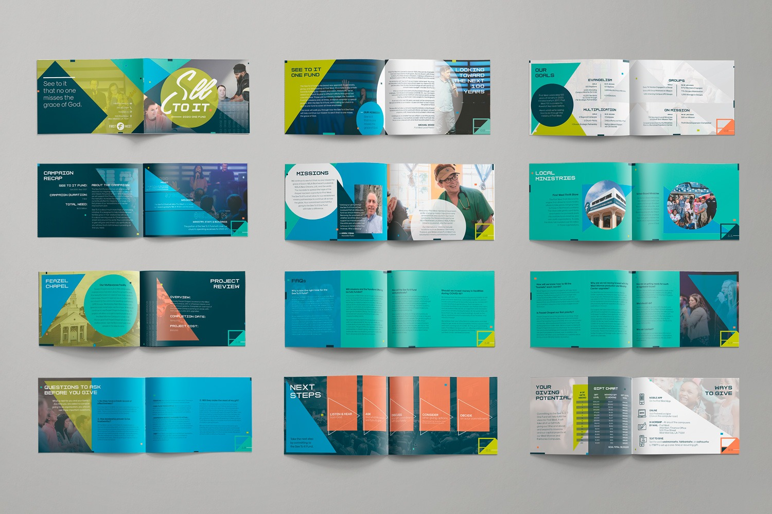 How to case statement examples for church capital campaign brochure, booklet design for First West