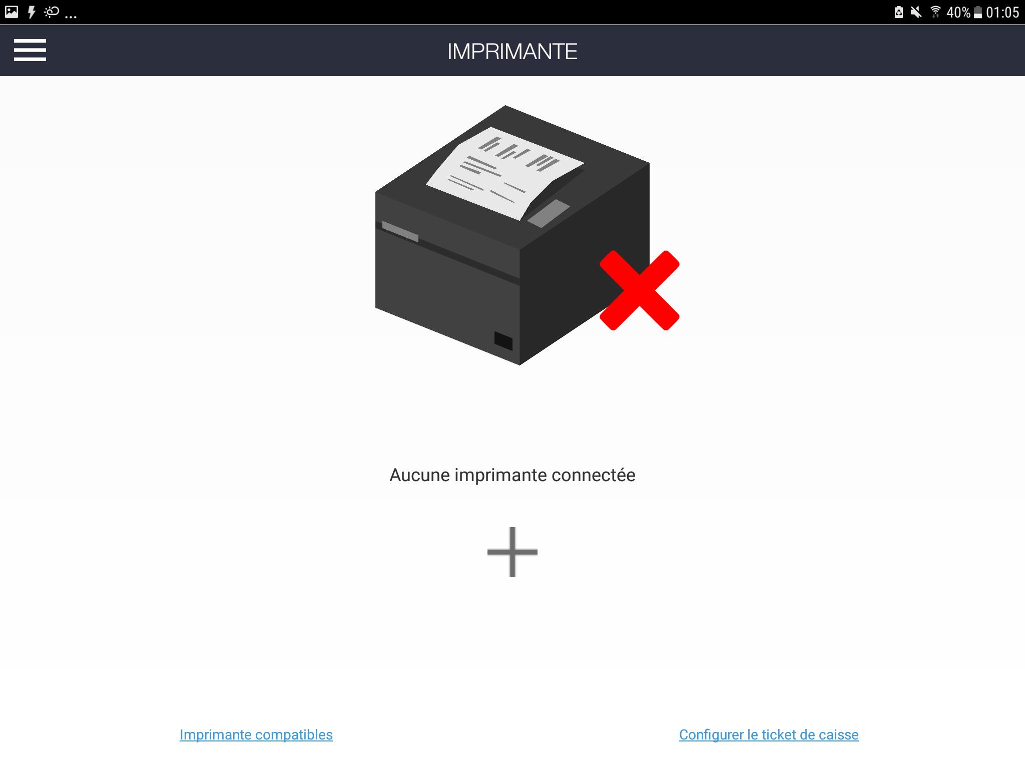 Accueil ajouter une imprimante