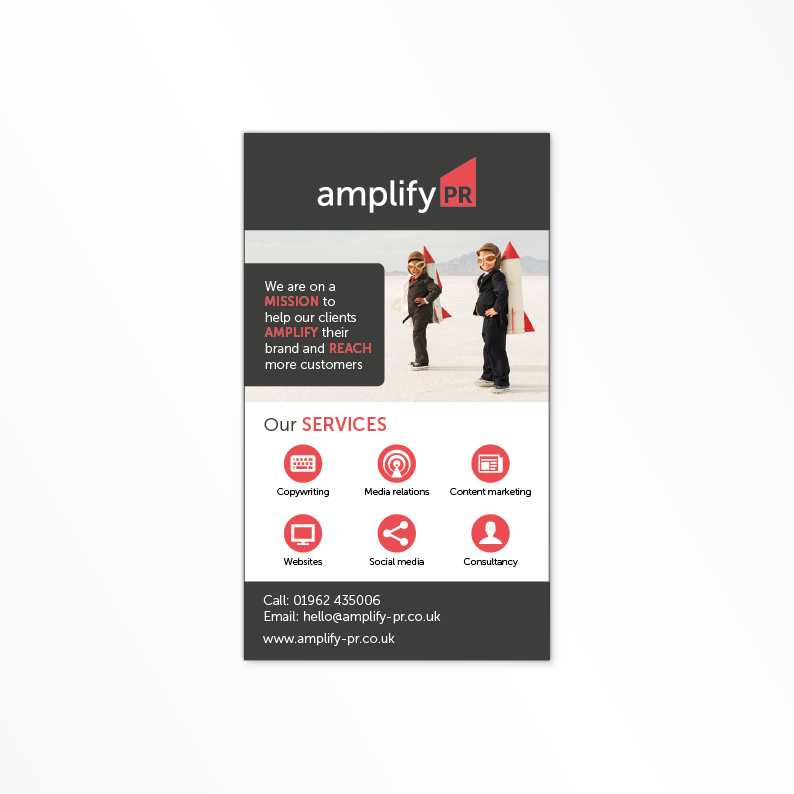 Amplify PR print advert