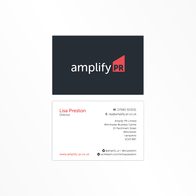 Amplify PR business card