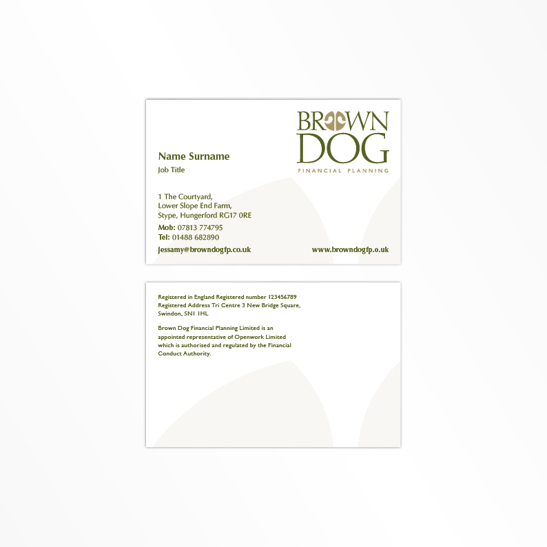 Brown Dog Financial Planning business card