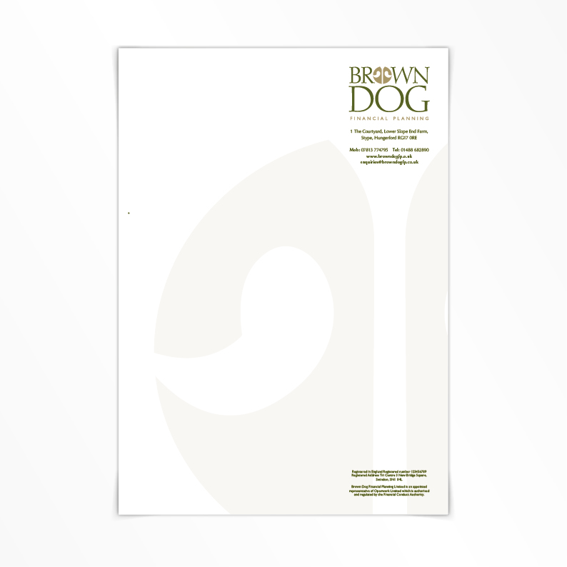 Brown Dog Financial Planning letterhead
