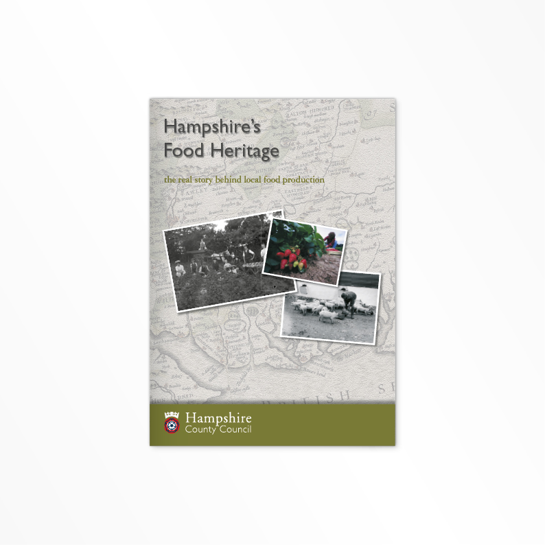 Hampshire Food Heritage print brochure cover