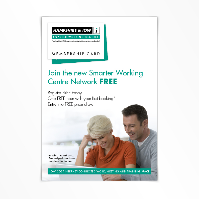 Hampshire Smarter Working print flyer
