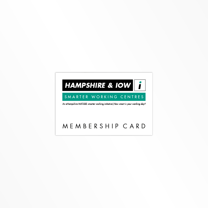 Hampshire Smarter Working membership card