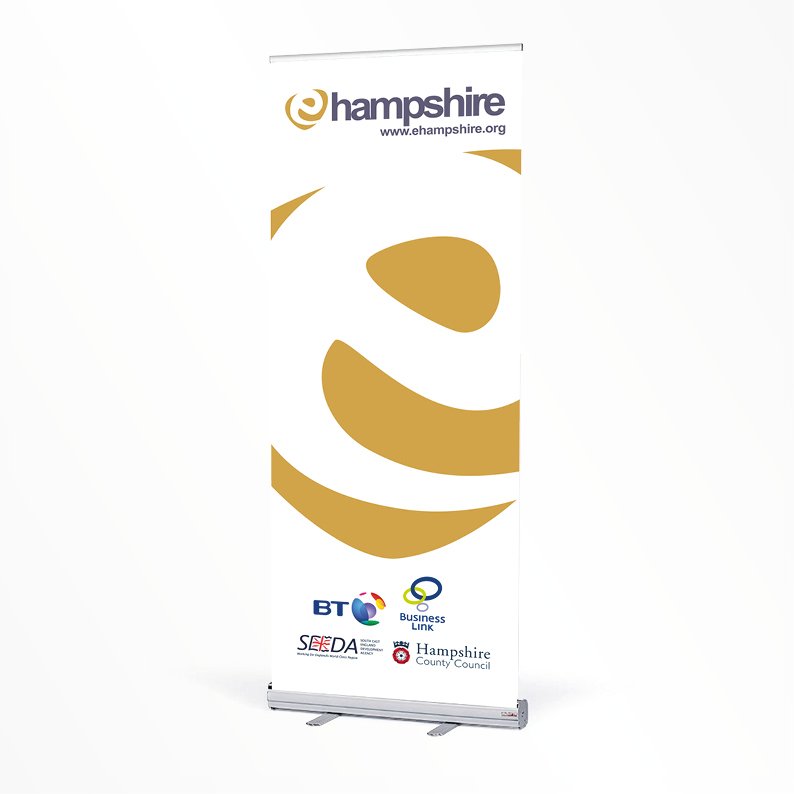 Hampshire Broadband pull-up banner