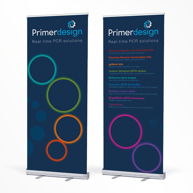 Primer Design pull-up banners