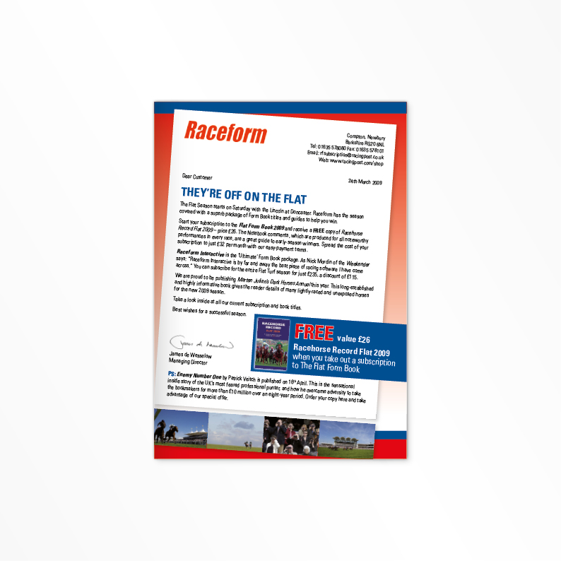 Raceform leaflet cover
