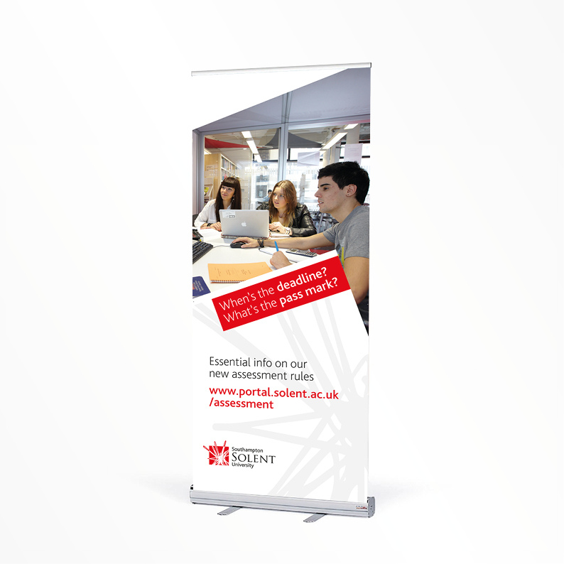Southampton Solent University pull-up banner
