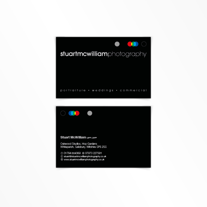 Stuart McWilliam Photography business card