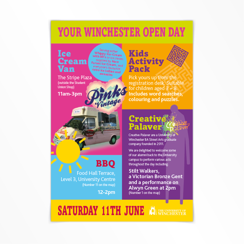 University of Winchester Open Day flyer