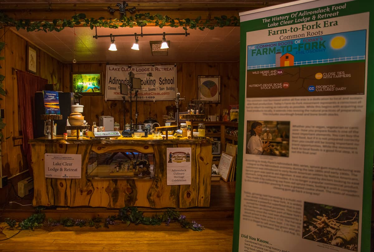 History of Adirondack Food Tasting Event at the Lake Clear Lodge