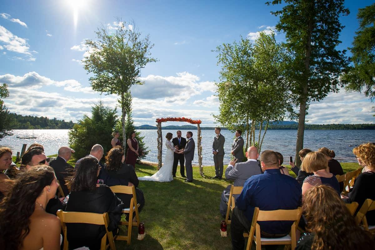 Lake Front Weddings at the Lake Clear Lodge