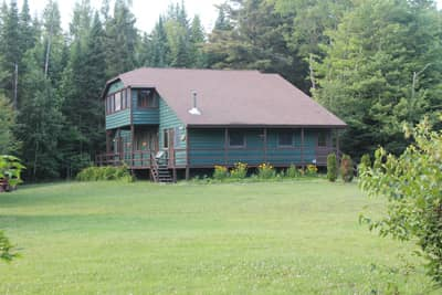 The Lakehouse with four suites at the Lake Clear Lodge & Retreat.