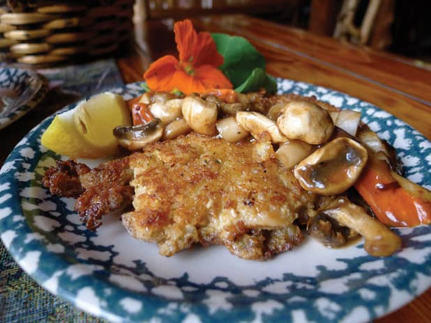 Adirondack Alps Schnitzel with Mushrooms