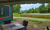 Lake View Patio at the Adirondack Alps Restaurant