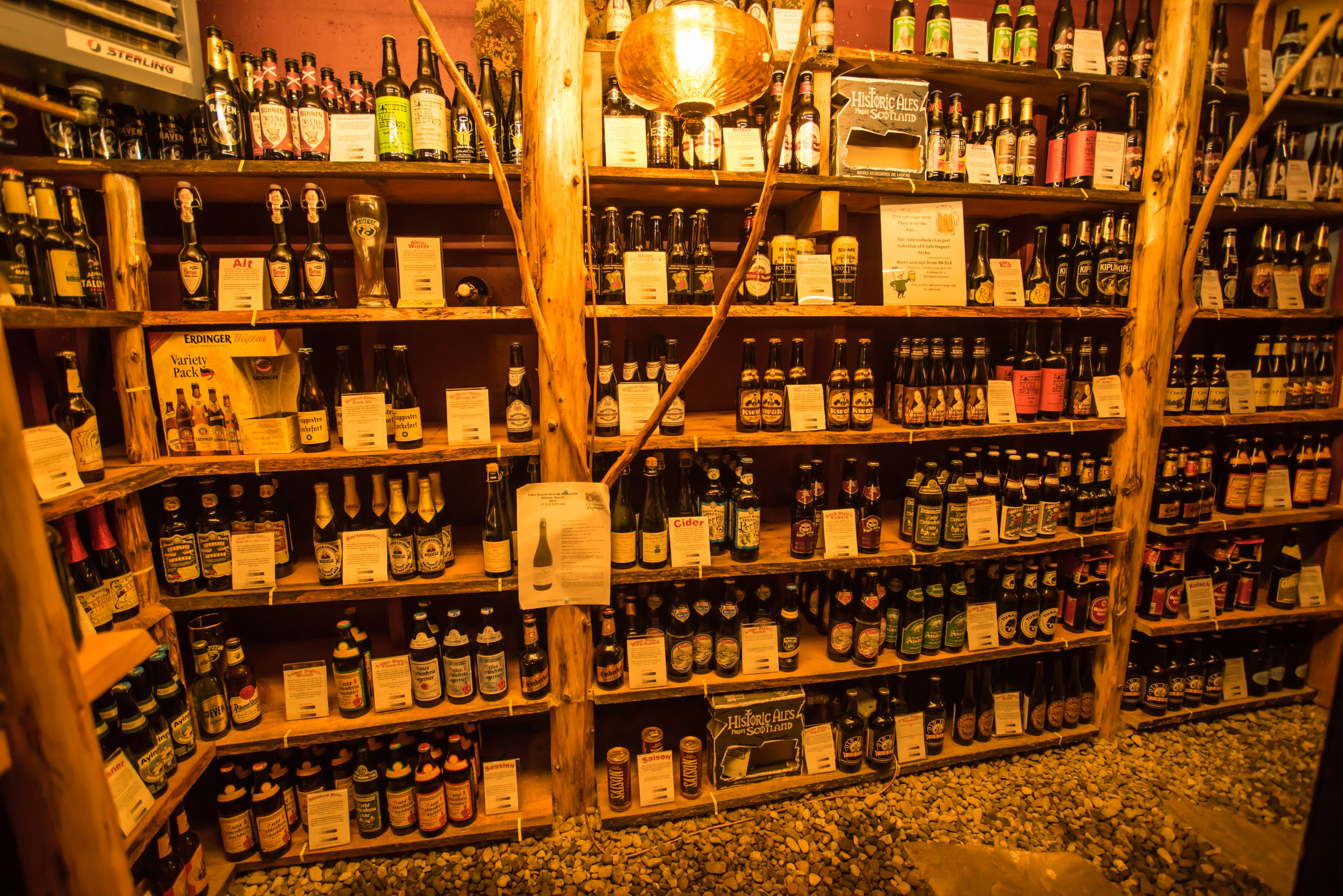 The Hand-crafted Beer Cellar at the Lake Clear Lodge & Retreat