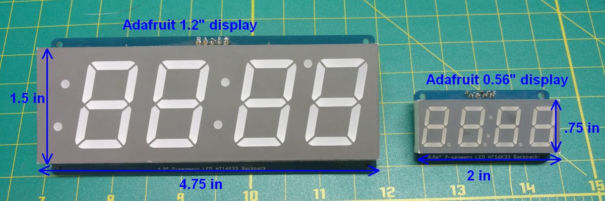 Adafruit display comparison