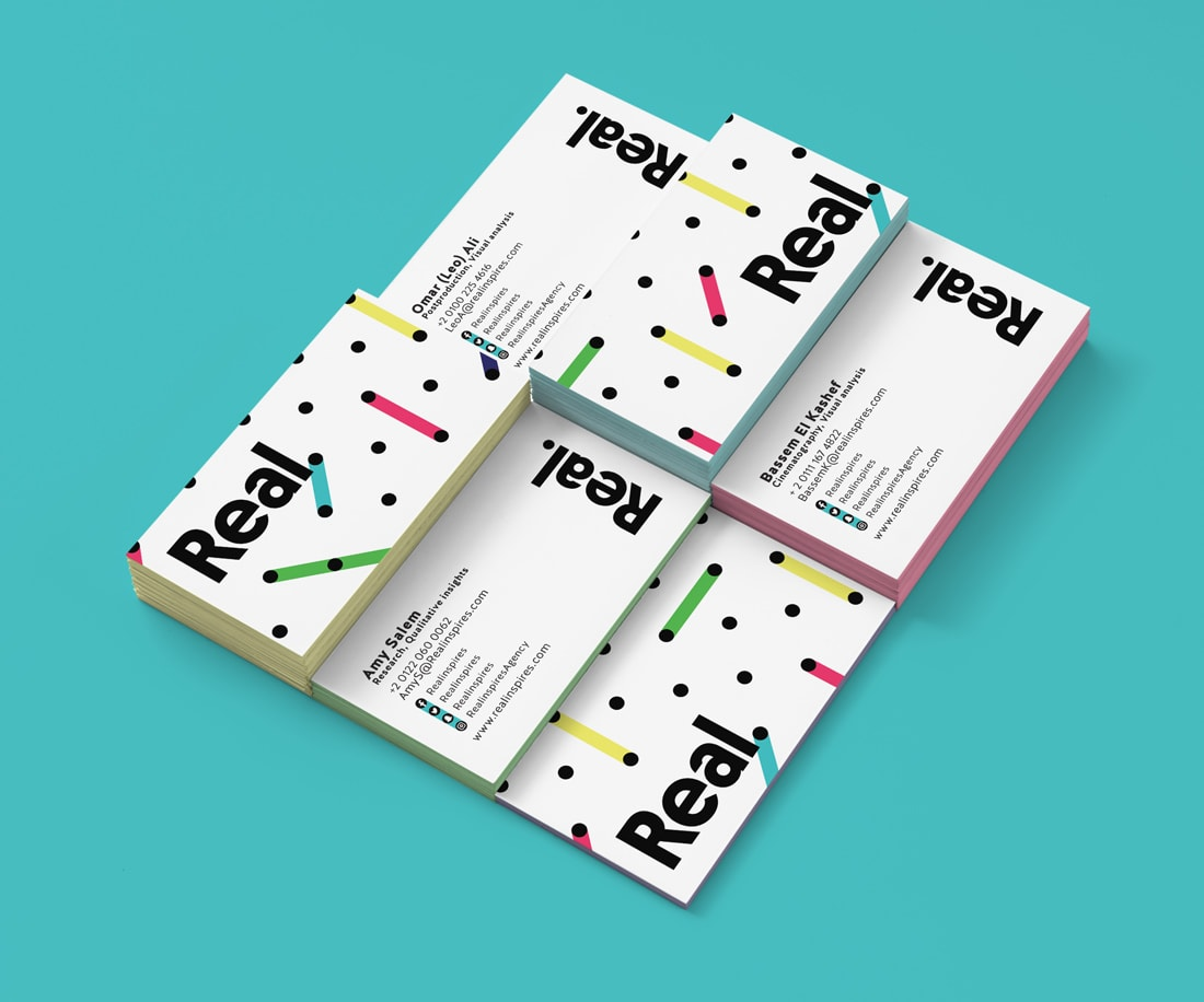 Dynamic and versatile business card design for Real