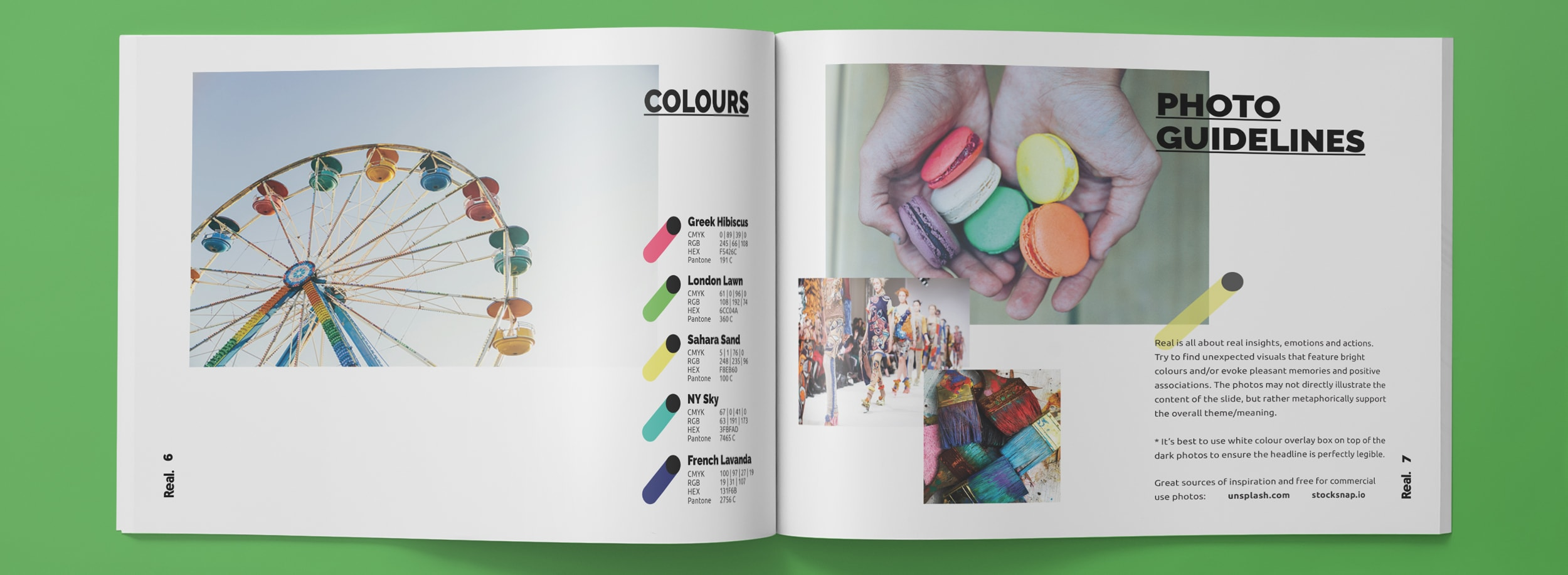 Real Brandbook: Colours and Photo Guidelines