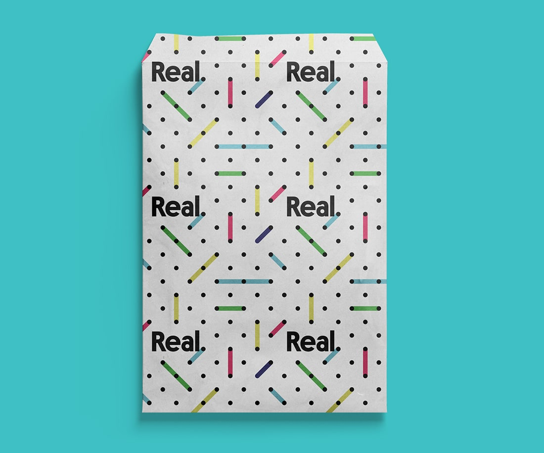 Real Mailer featuring the brand pattern; by LET'S PANDA design studio, Vancouver