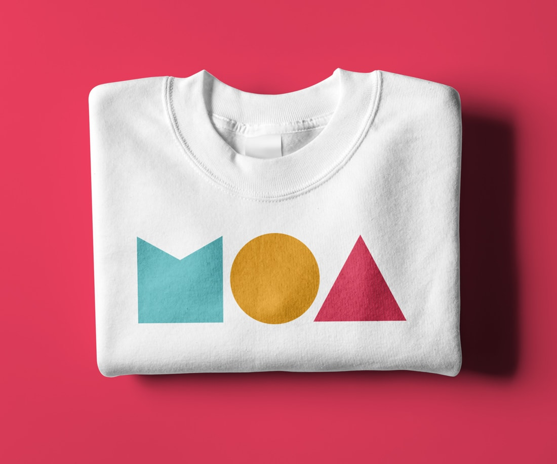 Iconic hoodie design featuring a bold supersized MOA logo in colour