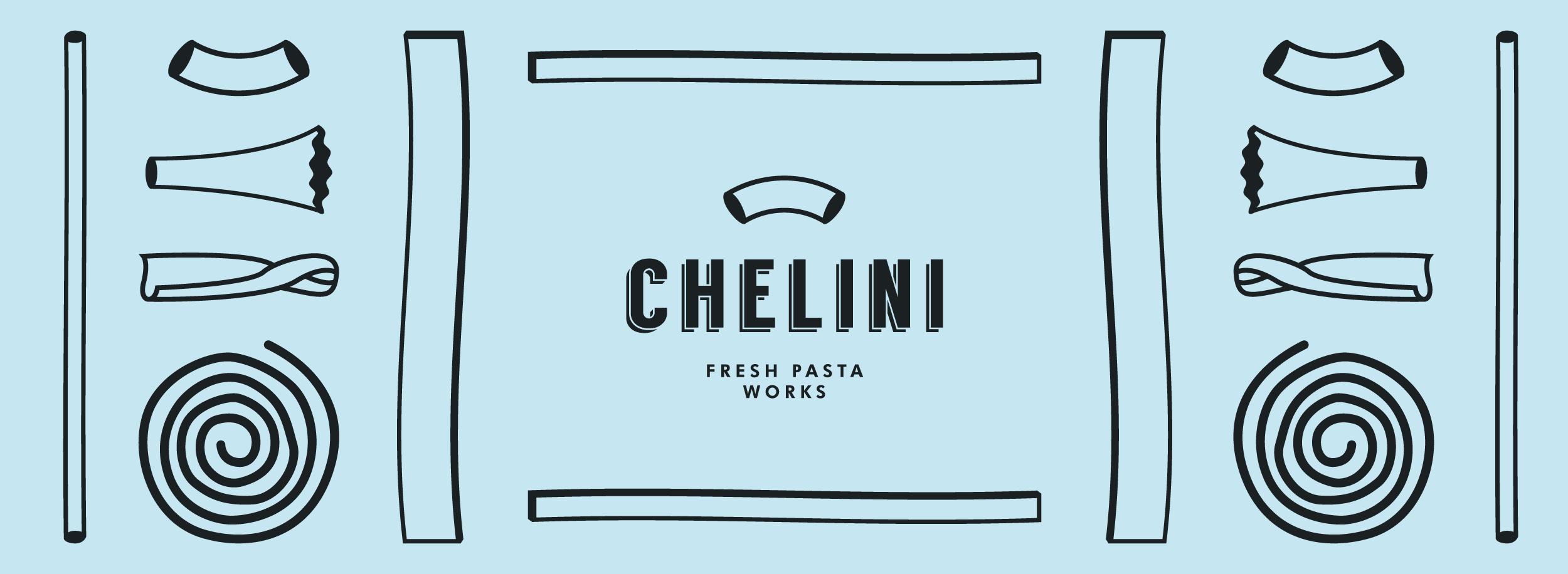 Macaroni, tagliatelle, pappardelle, gigli, spaghetti, bucatini, casarecce icons for Chelini