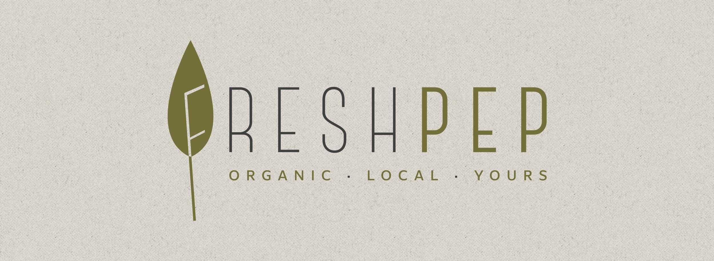 Nice logo that communicates the organic lifestyle values visually. © LET'S PANDA for freshpep