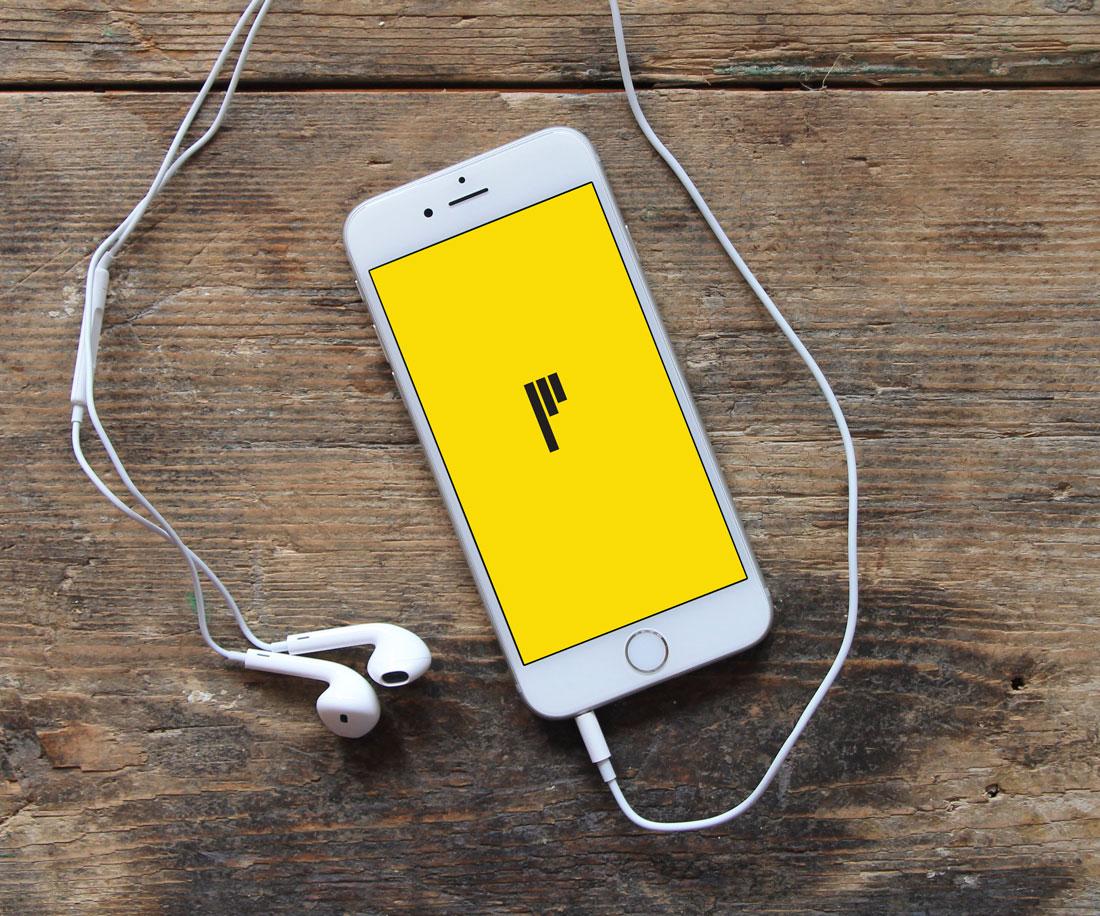 Pinnacle logo on a smartphone