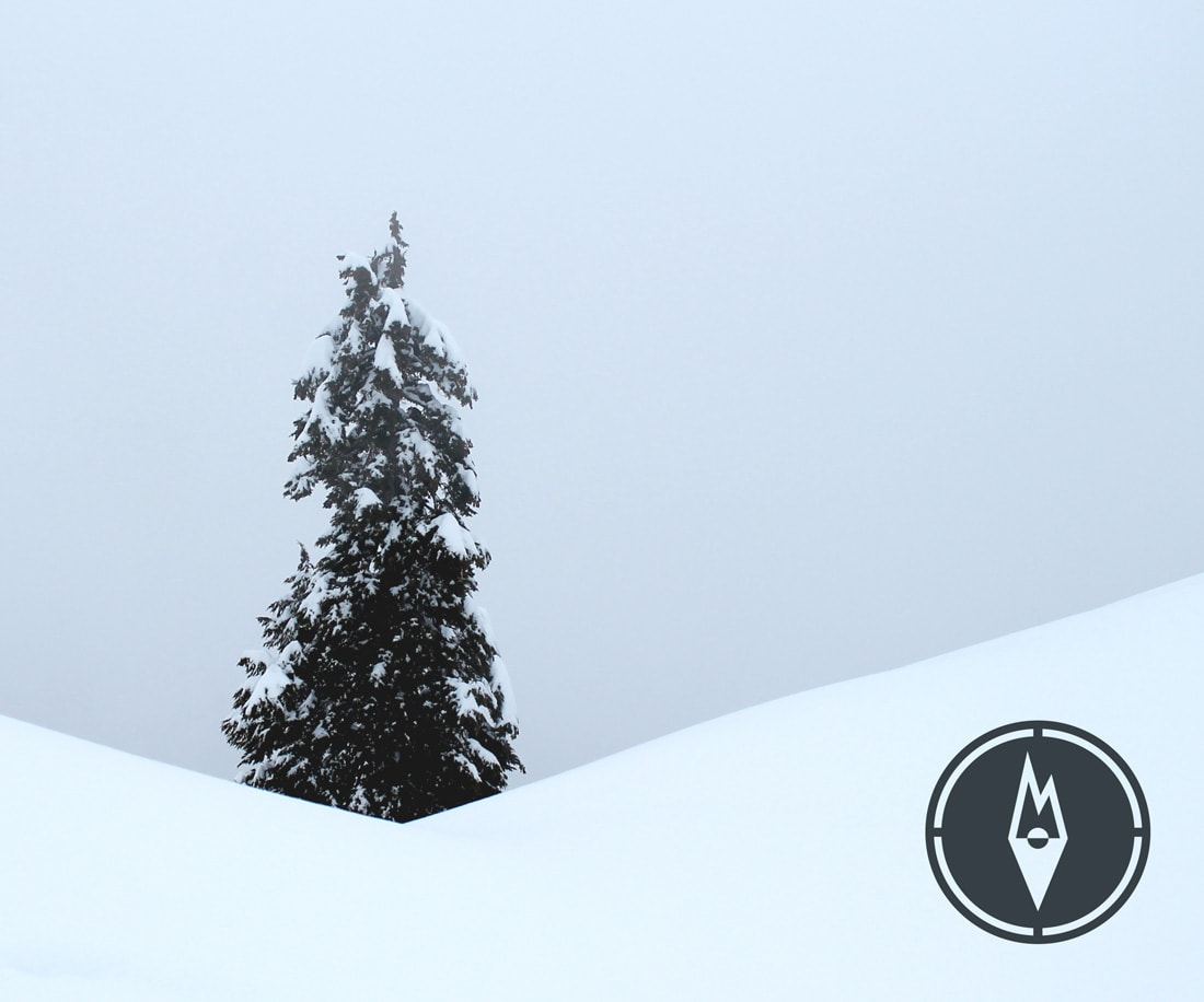 Outdoor Essentials logo on a winter photo © LET'S PANDA