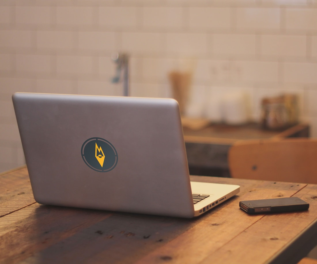 Outdoor Essentials symbol as a laptop sticker decal